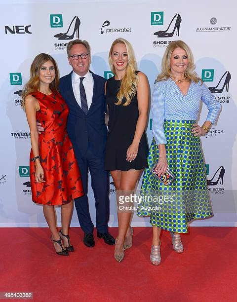 Cathy Hummels Heinrich Deichmann Sabine Lisicki and Frauke Ludowig attend the Deichmann Shoe Step Of The Year Award at Hotel Atlantic Kempinski on...
