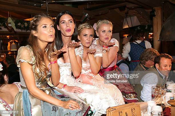 Cathy Hummels Julia Trainer Jennifer Knaeble Barbara Sturm during the Oktoberfest 2015 Opening at Kaeferschaenke beer tent at Theresienwiese on...