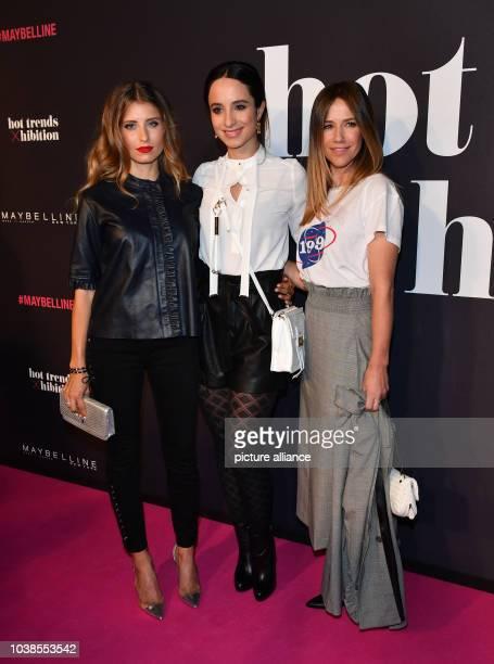 """Cathy Hummels, Stefanie Stumph und Alexandra Neldel kommen zur Make-Up-Show """"Maybelline New York hot trends Xhibition"""" im Rahmen der Berliner..."""