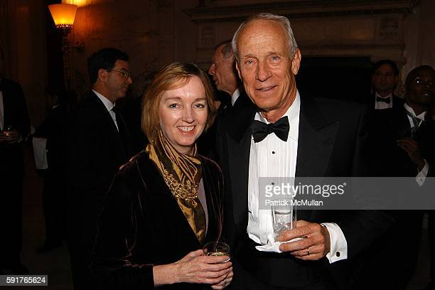 Cathy Isaacson and Bill Budinger attend Aspen Institute Fall Awards Dinner at Metropolitan Club on November 3 2005 in New York City