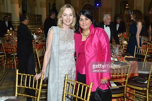 Cathy Isaacson and Maya Ajmera attend The Aspen Institute 33rd Annual Awards Dinner at The Plaza Hotel on November 3 2016 in New York City