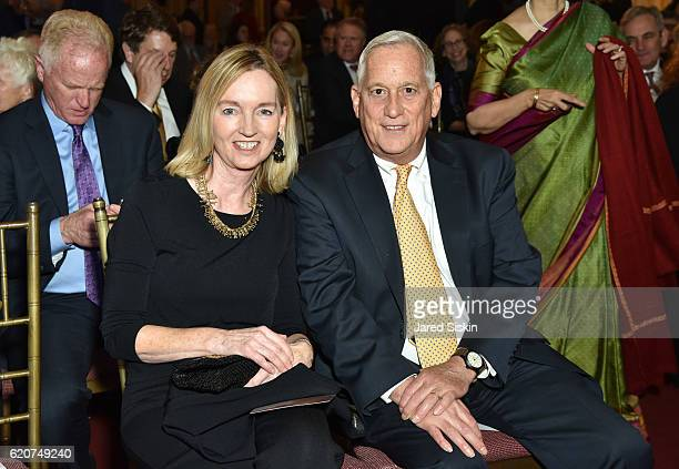 Cathy Isaacson and Walter Isaacson attend the 2016 John P McNulty Prize Reception at The Metropolitan Club on November 2 2016 in New York City