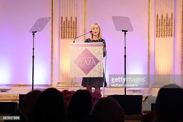Cathy Isaacson speaks on stage during New York Women's Foundation hosts Annual Fall Gala at The Plaza on October 15 2015 in New York City