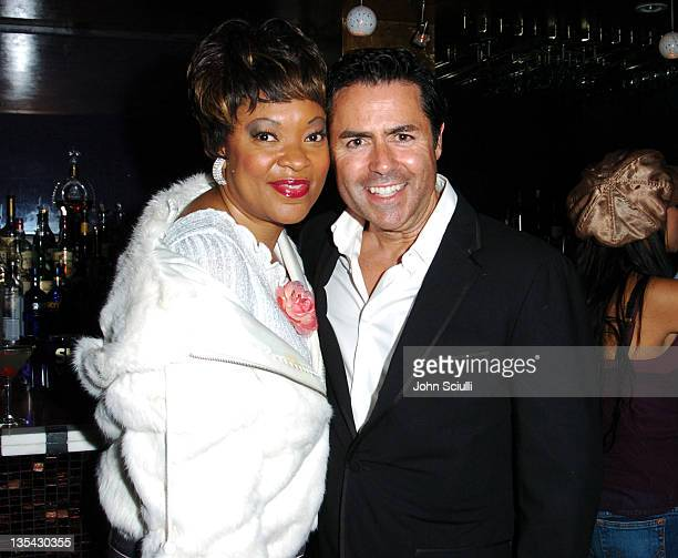 Cathy Jones and Greg Scott CEO Bebe during Bebe Fashion Show and Party at Bliss on La Cienega in Los Angeles California United States