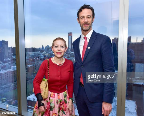 Cathy Kaplan and Darius Himes attend the Spring Party to benefit Aperture and to celebrate The Photographer in the Garden at Public Hotel on April 6...