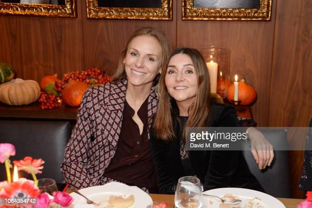 Cathy Kasterine and Vassi Chamberlain attend Alexa Chung's CHUNGSGIVING dinner to celebrate Thanksgiving and the launch of her exclusive ALEXACHUNG...
