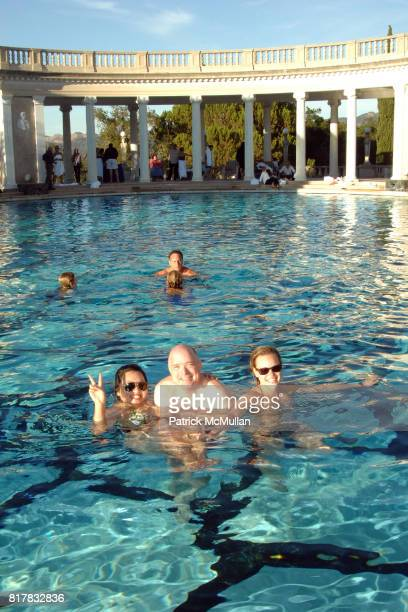 Cathy Kim-Howe, David Crotty and Alana Tabacco attend HEARST CASTLE PRESERVATION FOUNDATION 2010 NEPTUNE POOL PARTY at Hearst Dairy on October 9,...