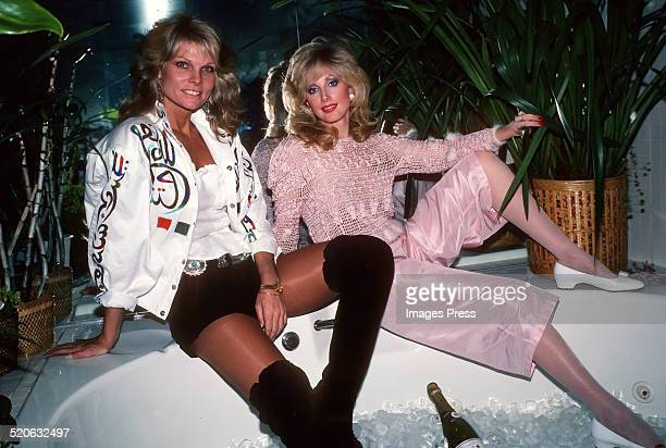Cathy Lee Crosby and Morgan Fairchild attends an extravagant party circa 1980s in New York City