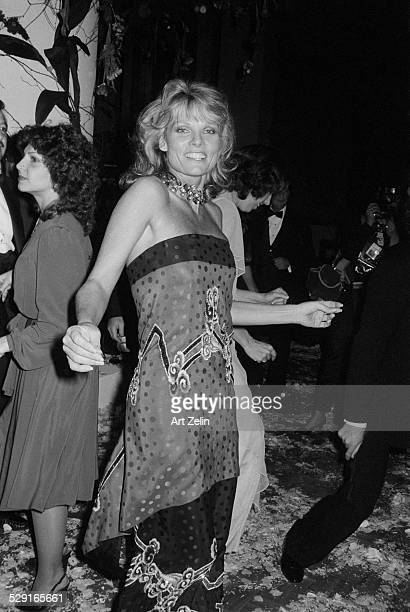 Cathy Lee Crosby dancing at a party circa 1970 New York