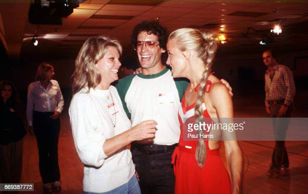 Cathy Lee Crosby Scott Newman son of actor Paul Newman who later died of a drug overdose and Suzy Chaffee at a roller skating party November 25 1979...
