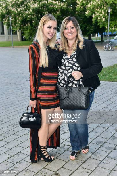 Cathy Lugner and her sister Beate during the Secret Fashion Show at Alte Kongresshalle on May 15 2017 in Munich Germany