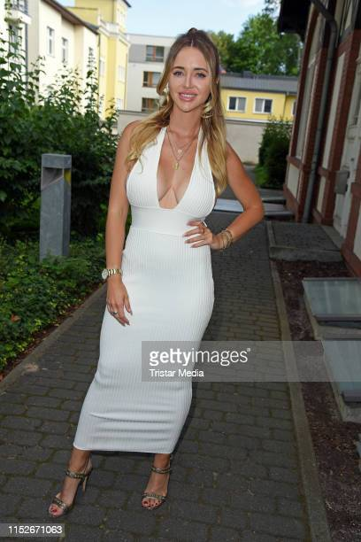 Cathy Lugner attends the POMPOEOES bride fashion presentation by Harald Gloeoeckler and Semiha Bahr on June 28 2019 in Berlin Germany