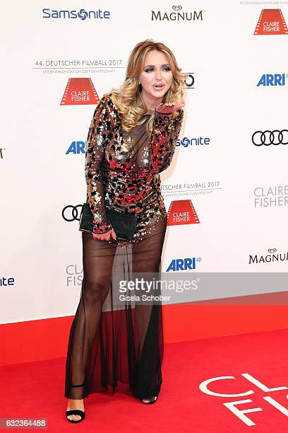 Cathy Lugner Spatzi former wife of Richard Lugner during the 44th German Film Ball 2017 arrival at Hotel Bayerischer Hof on January 21 2017 in Munich...