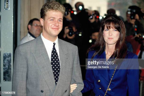 Cathy McGowan and her fiance singer Michael Ball in 1990 ca. In London, England.