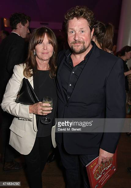 Cathy McGowan and Michael Ball attend an after party celebrating the VIP Gala Preview of The Elephant Man at The Haymarket Hotel on May 26 2015 in...