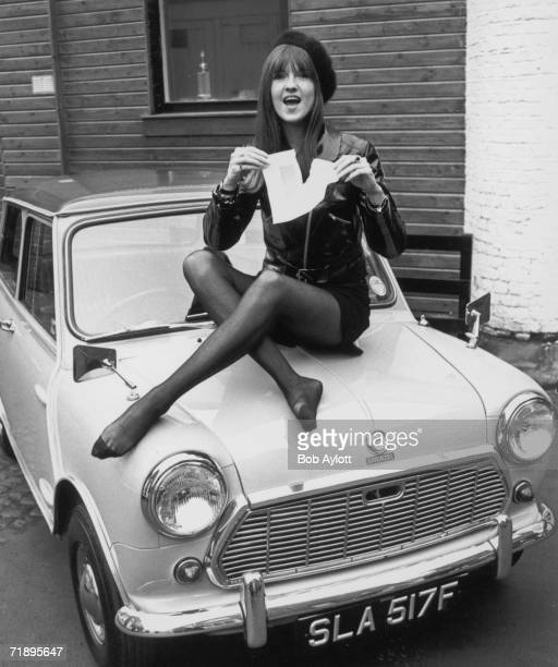 Cathy McGowan presenter of the TV pop programme 'Ready Steady Go' tears up her 'L' plate after passing her driving test at the first attempt 19th...