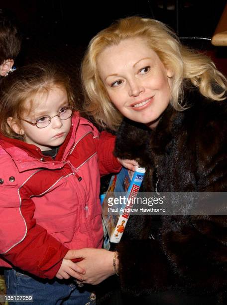 Cathy Moriarty and daughter during Ringling Bros and Barnum Bailey The 134th Edition of The Greatest Show On Earth New York Arrivals at Madison...