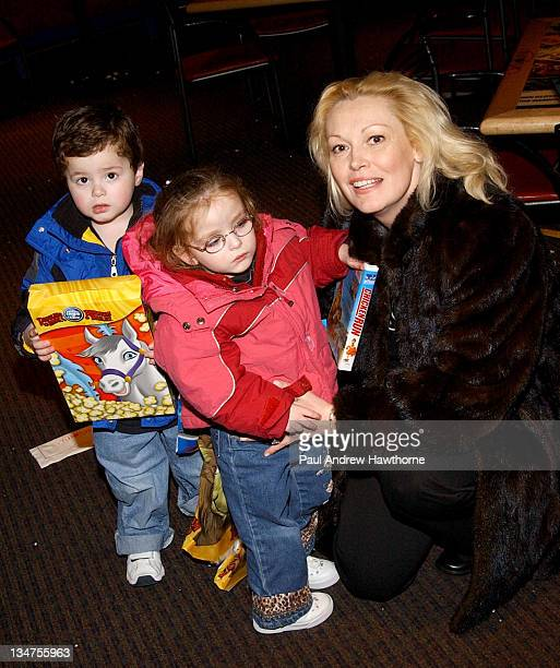 Cathy Moriarty and family during Ringling Bros and Barnum Bailey The 134th Edition of The Greatest Show On Earth New York Arrivals at Madison Square...