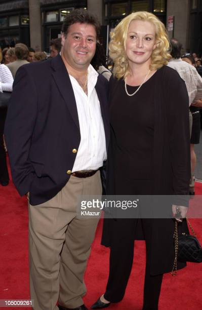 Cathy Moriarty and husband during City By The Sea Premiere New York at Union Square Theatre in New York City New York United States