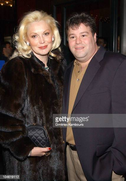 Cathy MoriartyGentile and her husband during Analyze That World Premiere Inside Arrivals at Ziegfeld Theatre in New York City New York United States