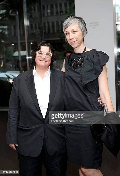 Cathy Opie and Alexandra Grant attend the Gala In The Garden at the Hammer Museum on September 24 2011 in Westwood California