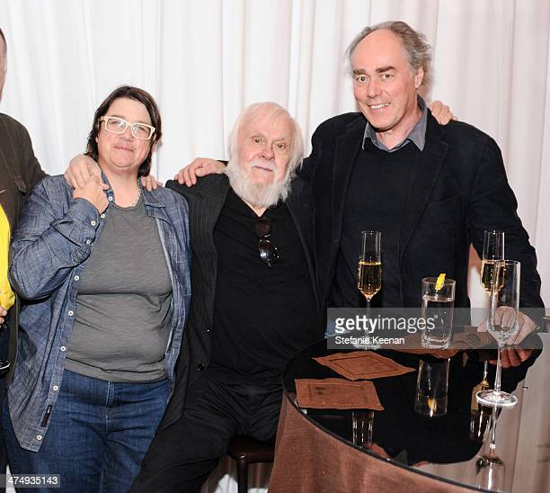 Cathy Opie John Baldessari and Thomas Lawson attend CalArts Art Benefit And Auction Los Angeles Opening Reception At Regen Projects on February 25...