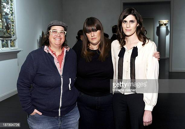 Cathy Opie Kate Mulleavy and Laura Mulleavy attend Private Reception And Viewing Of RODARTE Fra Angelico Collection At LACMA at LACMA on January 18...