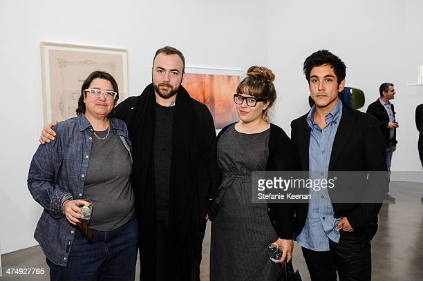 Cathy Opie Walead Beshty Erica Redling and Dashiell Manley attend CalArts Art Benefit And Auction Los Angeles Opening Reception At Regen Projects on...