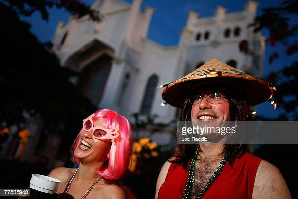 Cathy Owens and Bill Owens participate in the Fantasy Fest Masquerade March October 27 2007 in Key West Florida The ten day costuming and masking...