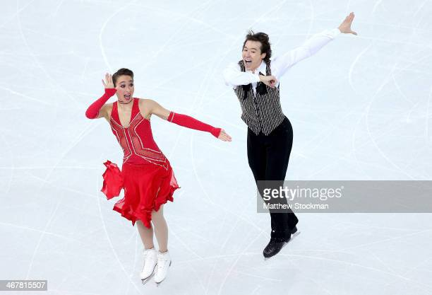 Cathy Reed and Chris Reed of Japan compete in the Figure Skating Team Ice Dance Short Dance during day one of the Sochi 2014 Winter Olympics at...