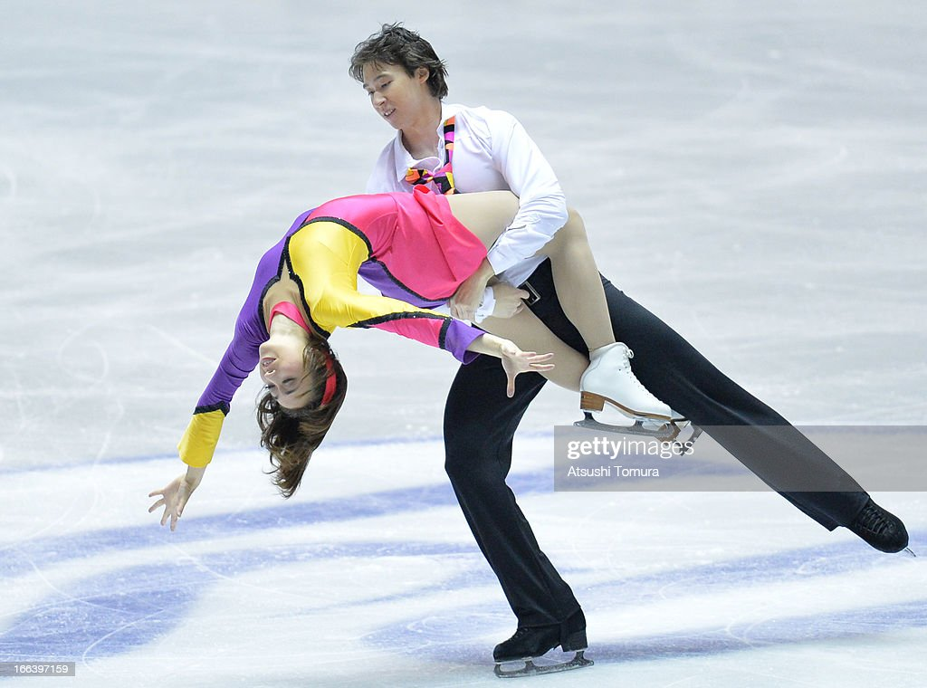 Cathy Reed and Chris Reed of Japan compete in the ice dance free dance during day two of the ISU World Team Trophy at Yoyogi National Gymnasium on April 12, 2013 in Tokyo, Japan.