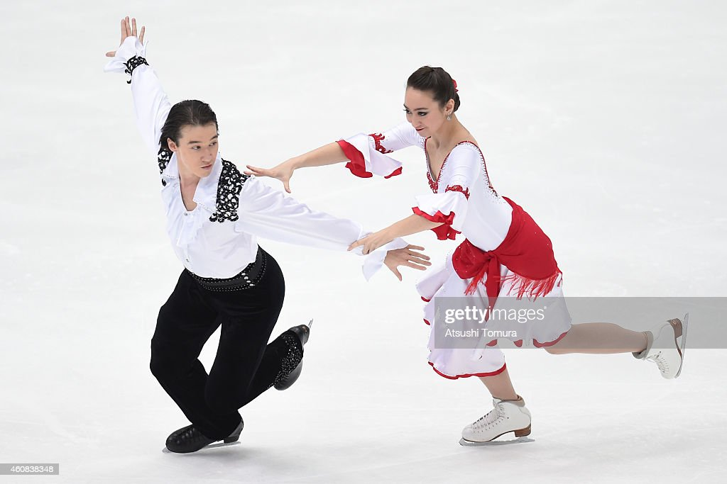 Cathy Reed and Chris Reed of Japan compete in the Ice Dance Short Dance during the 83rd All Japan Figure Skating Championships at Big Hat on December 26, 2014 in Nagano, Japan.