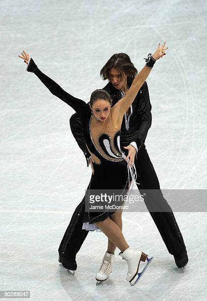 Cathy Reed and Chris Reed of Japan in action during their Ice Dancing Compulsory Dance during the ISU World Figure Skating Championships at the...