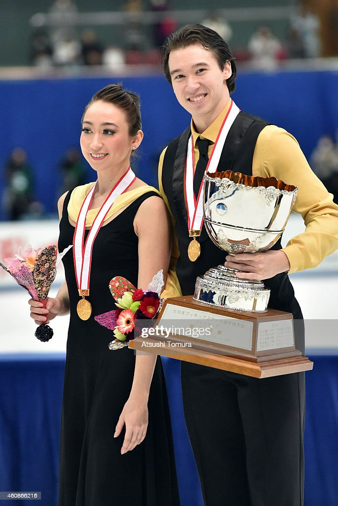 Cathy Reed and Chris Reed of Japan pose with gold medal in the award ceremony for Ice Dance during the 83rd All Japan Figure Skating Championships at the Big Hat on December 28, 2014 in Nagano, Japan.