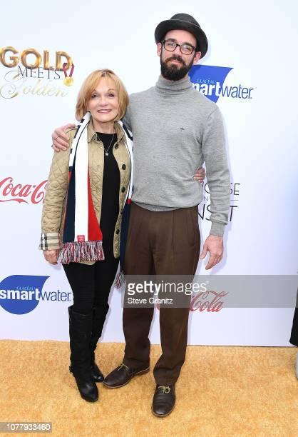 Cathy Rigby and son arrives at the 6th Annual Gold Meets Golden at The House on Sunset on January 5 2019 in Beverly Hills California