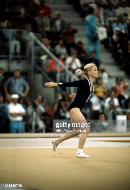 Cathy Rigby competing in the Women's floor exercise event at the 1972 Summer Olympics / the Games of the XX Olympiad Olympiahalle