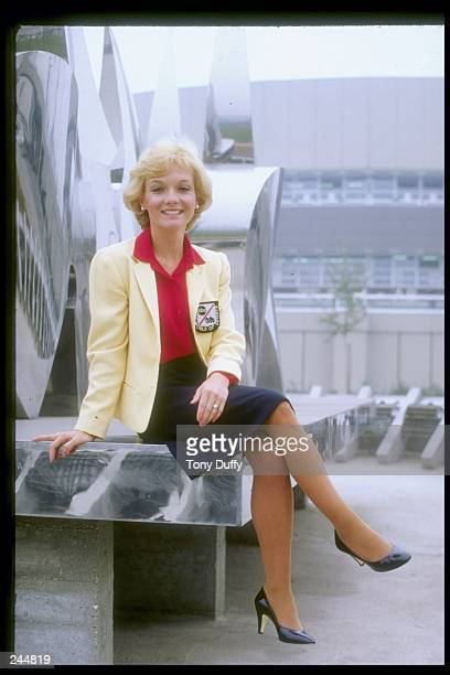 Cathy Rigby looks on Mandatory Credit Tony Duffy /Allsport