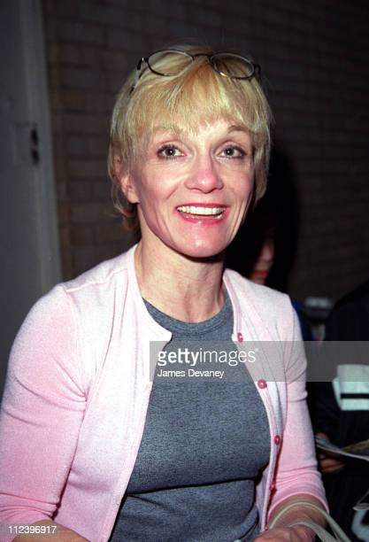 Cathy Rigby outside the Broadway theatre where she stars as The Cat In The Hat in Seussical