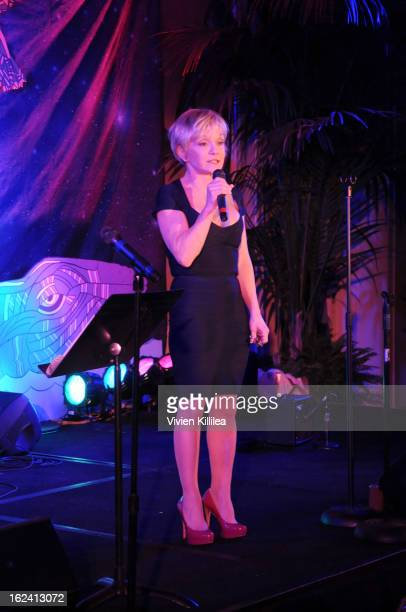 Cathy Rigby speaks at Imagination Heals Children's Art Launch at The Beverly Hilton Hotel on February 22 2013 in Beverly Hills California