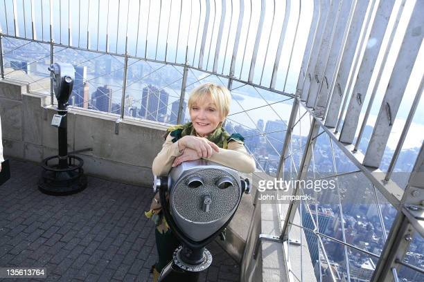 Cathy Rigby visits The Empire State Building on December 12 2011 in New York City