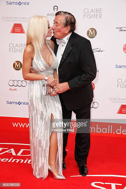 Cathy Schmitz and Richard Lugner during the German Film Ball 2016 at Hotel Bayerischer Hof on January 16 2016 in Munich Germany