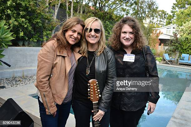 Cathy Schulman, Melissa Etheridge and Melinda Newman attend at the Women in Film spotlights women composers and songwriters on May 7, 2016 in Los...