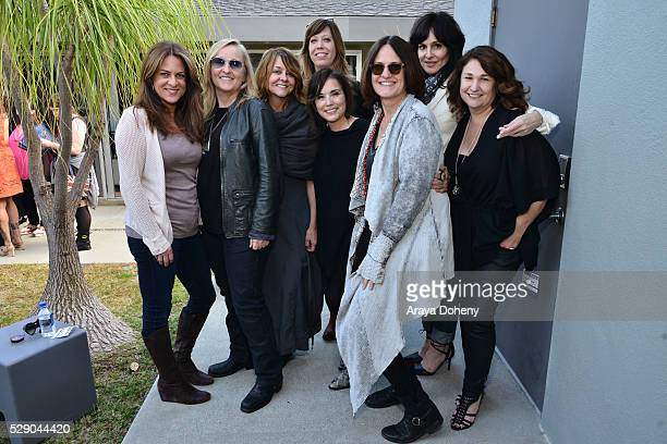 Cathy Schulman Melissa Etheridge Tracy McKnight Kirsten Schaffer Loretta Munoz Linda Wallem Christine Belden and Kaylin Frank attend the Women in...