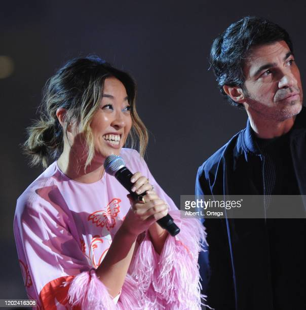 Cathy Yan and Chris Messina attend A Night of Music and Mayhem in Harleywood hosted by the cast of Bird Of Prey held at Hollywood and Highland on...