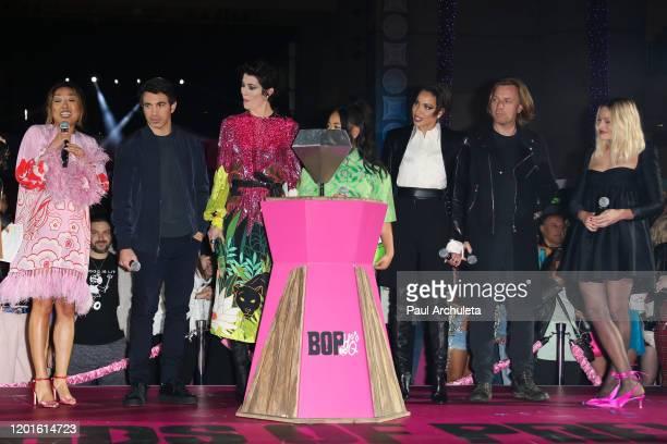 Cathy Yan Chris Messina Mary Elizabeth Winstead Ella Jay Basco Jurnee SmollettBell Ewan McGregor and Margot Robbie attend the premiere of Warner Bros...