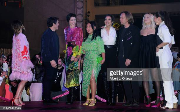 Cathy Yan Chris Messina Mary Elizabeth Winstead Ella Jay Basco Jurnee SmollettBell Ewan McGregor Margot Robbie and Christina Hodson attend A Night of...