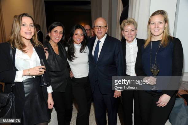 Catie Auran Sabrina Saltiel Jade Chan Howard Lorber Diane Johnson and Louis Johnson attend 432 Park Avenue Reveal of the Penthouse Model Residence...