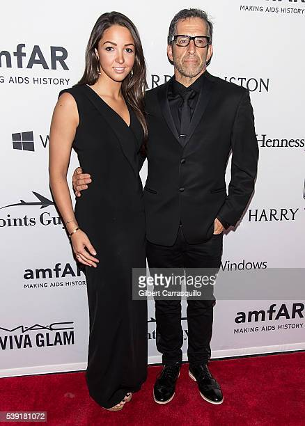 Catie Cole and designer Kenneth Cole attend 7th Annual amfAR Inspiration Gala New York at Skylight at Moynihan Station on June 9 2016 in New York City