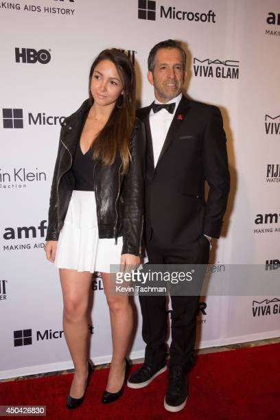 Catie Cole and Designer Kenneth Cole attend the amfAR Inspiration Gala New York 2014 at The Plaza Hotel on June 10 2014 in New York City