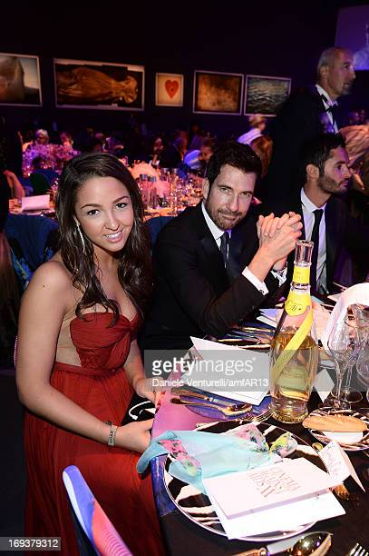 Catie Cole and Dylan McDermott attend amfAR's 20th Annual Cinema Against AIDS during The 66th Annual Cannes Film Festival at Hotel du CapEdenRoc on...